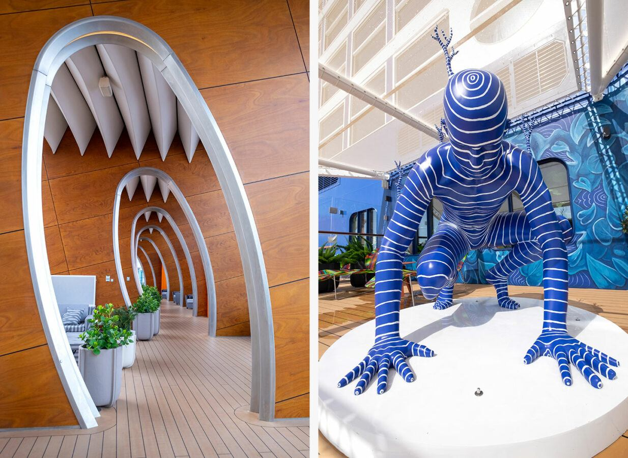 Quirky design features and artworks on board Celebrity Apex