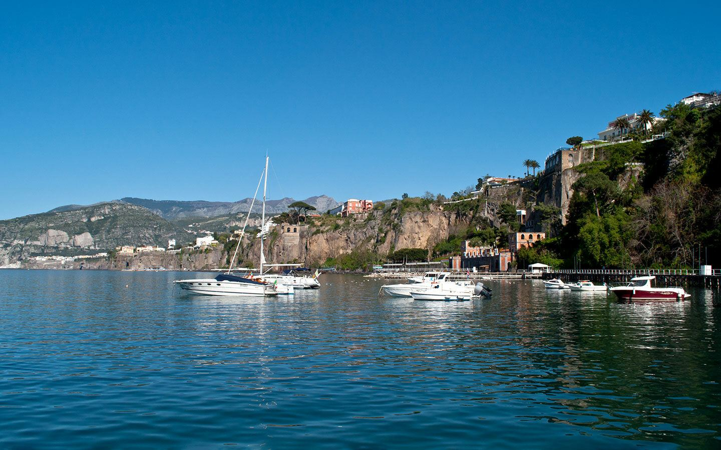 Boats in Sorrento harbour